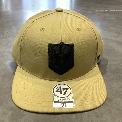 Golden Knights Pro Fitted Old Gold Primary Logo