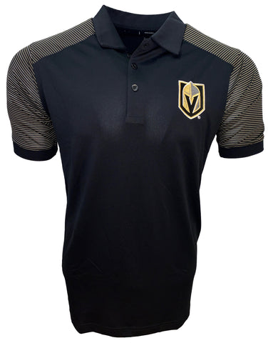 Golden Knights Men's Engage Performance Polo - Gold Stripe