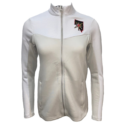 Golden Knights Ideal Full Zip Womens Jacket- White