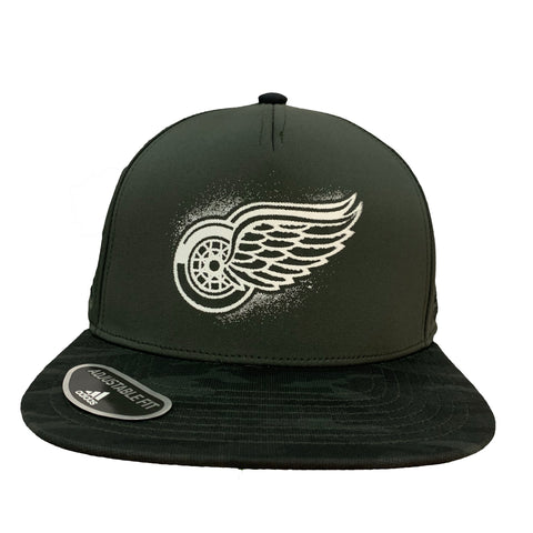 Detroit Red Wings 2020 Military Snapback Hat - Green/Camo