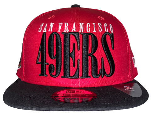 San Francisco 49ers Team Title Snapback Hat - Red