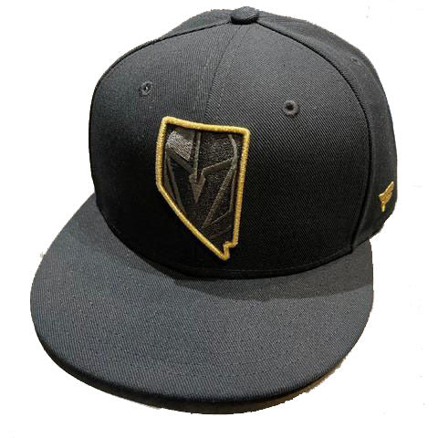 Golden Knights Hometown Fitted Flat Bill Hat - Black