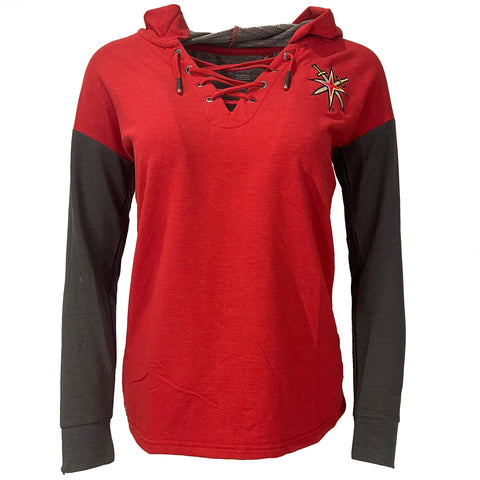 Golden Knights Women's Amaze Retro Reverse Lace Up Hood - Red