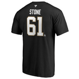Mark Stone Vegas Golden Knights Fanatics Branded Authentic Captain Stack Name & Number T-Shirt - Black