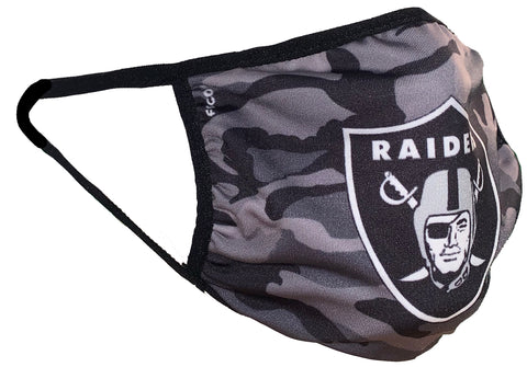 Raiders Camo Big Logo Face Mask Cover