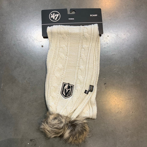 Golden Knights Meeko Knit Scarf - Cream