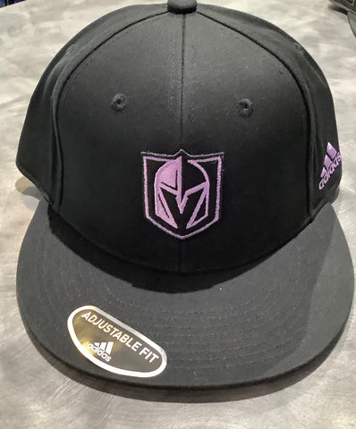Golden Knights Hockey Fights Cancer 2020 Snapback Hat - Black/Purple
