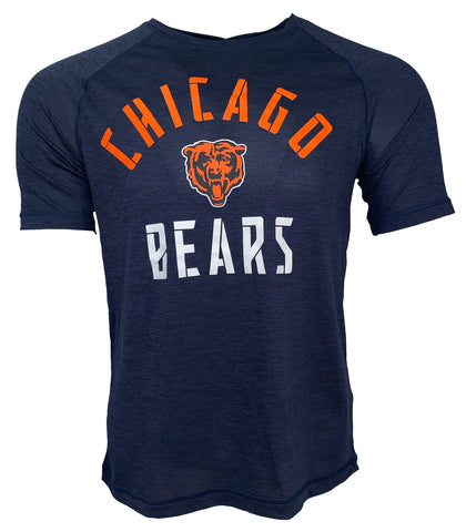 Chicago Bears Nexus Arch Dri Fit Tshirt - Navy Heather