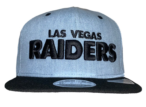 Las Vegas Raiders Denim Wordmark SnapBack Hat