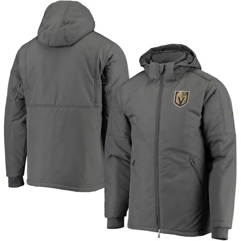 Golden Knights Pro Rink Side Parka Full Zip - Gray