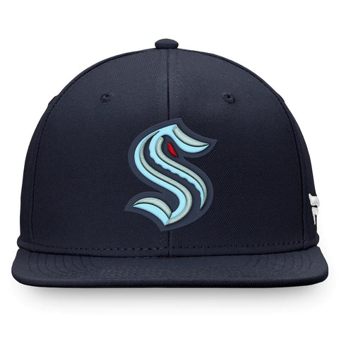Seattle Kraken Snapback Hat - Black