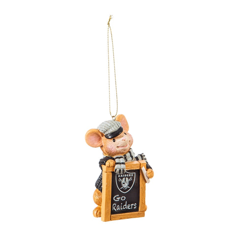 Las Vegas Raiders Holiday Mouse Ornament