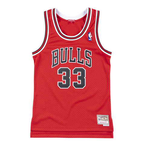 Bulls Pippen Womens 1997-98 Swingman Jersey - Red