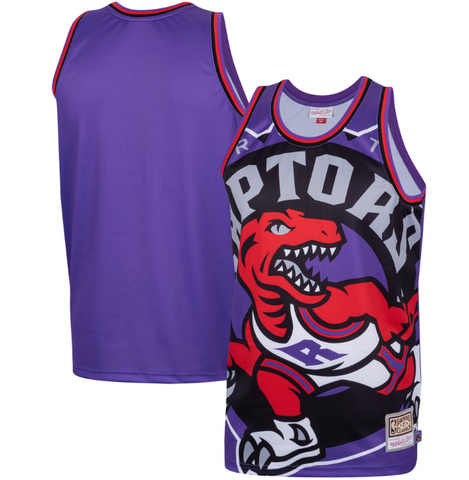 Raptors Hardwood Classics Big Face Fashion Jersey - Purple