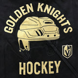 Vegas Golden Knights Youth Toddler Helmet Tee - Black/Gold