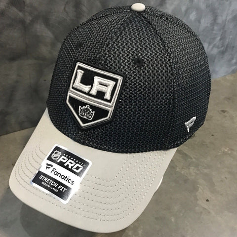 Los Angeles Kings Curved Bill Fitted - Dark Gray/Light Gray