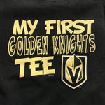 "Vegas Golden Knights Toddler/Infant ""My First Golden Knights Tee"" - Black/Gold"