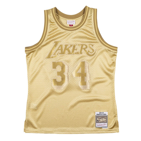 Lakers Shaquille O'Neal 1996-97 Swingman Jersey - All Gold