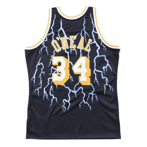 Lakers Shaquille O'Neal 1996-97 Lightning Swingman Jersey - Black