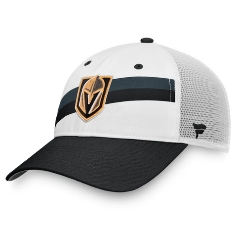 Vegas Golden Knights Fanatics Branded Prep Squad Trucker Snapback Hat – Black/White