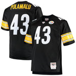 Pittsburgh Steelers Troy Polamalu #43 Legacy Jersey - Black