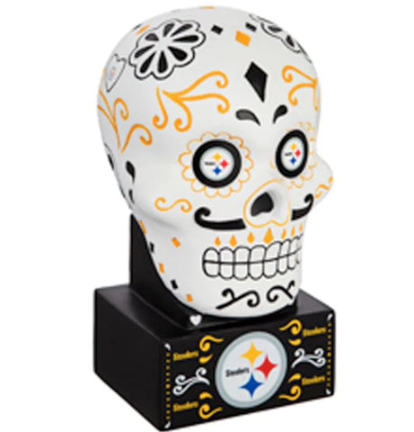 Steelers Sugar Skull Statue