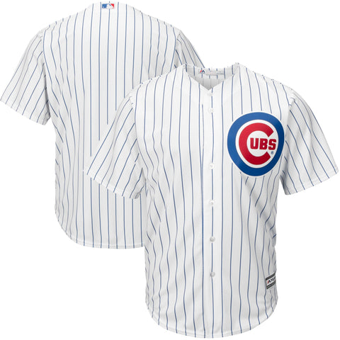 Chicago Cubs Official Cool Base Jersey - White Pinstripe