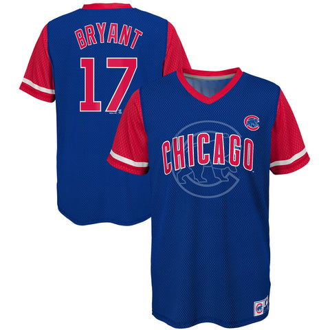 Chicago Cubs Youth Bryant Jersey T Shirt - Blue/Red