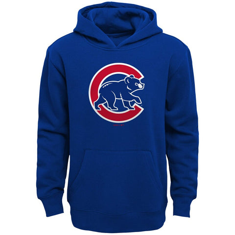 Chicago Cubs Youth Primary Logo Pullover Hoodie - Royal Blue