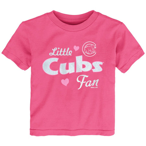 Chicago Cubs Toddler Fan T shirt - Pink