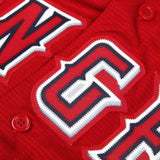 Los Angeles Angels Official Cool Base Jersey - Red