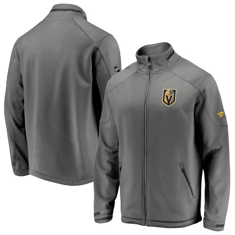 Golden Knights Authentic Pro Full Zip - Gray