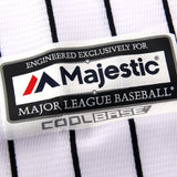 New York Yankees Official Cool Base Jersey - White Pinstripe