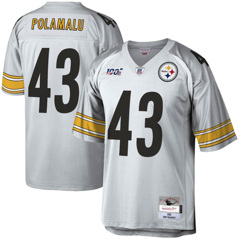 Pittsburgh Steelers Troy Polamalu 100th Anniversary Legacy Jersey - Platinum