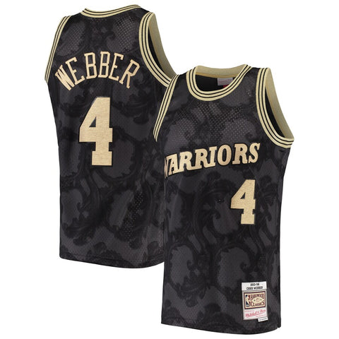 Warriors Webber 1993-94 Black Toile Swingman Jersey