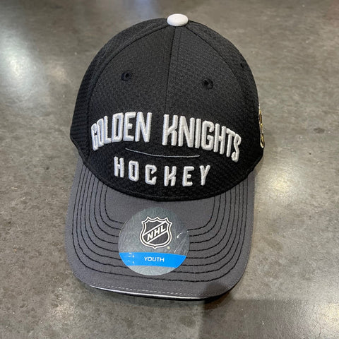Golden Knights Youth Adjustable Wordmark Arch Hat - Black/Gray