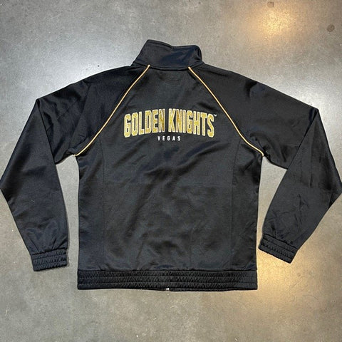 Golden Knights Womens Glitter Back Track Jacket - Black