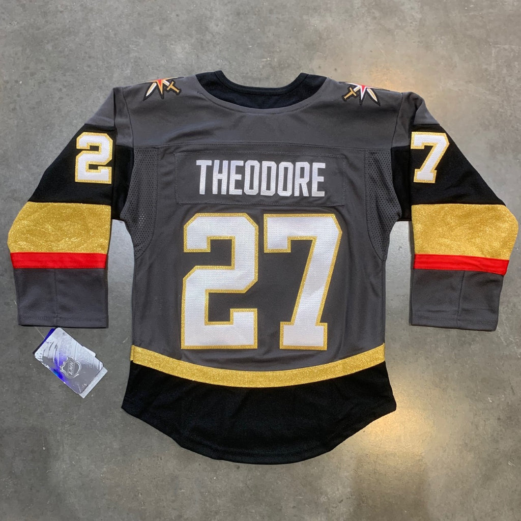 new arrival 4450f 6e294 Vegas Golden Knights Theodore Youth Premier Jersey- Home ...