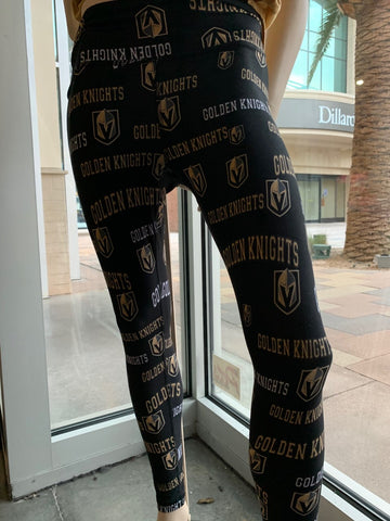 Golden Knights Repeat Logo Leggings - All Over Print