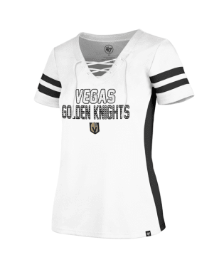 Golden Knights Womens Gem Word Laceup - White