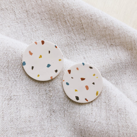 Confetti Party Small Disc Earrings