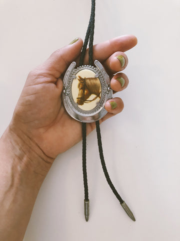 Bridled Horse Bolo Tie