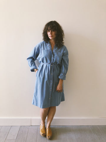 Chambray Shirt Dress Duster