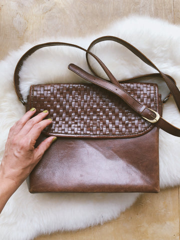 Waffle Weave Leather Bag
