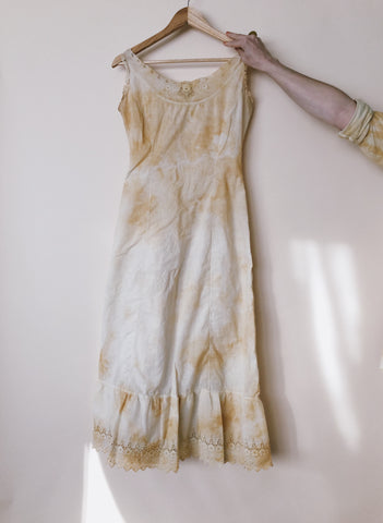 Batch No. 8 - Hand Dyed Lace Trim Slip Dress