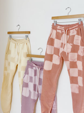 Checkered Jogger Sweatpants