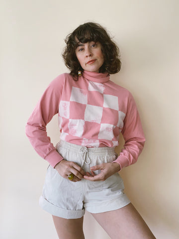 Batch NO. 20 - Rosey Checkered Turtleneck