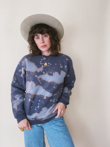 Batch NO. 19 - Navy Clouds Crewneck Sweatshirt