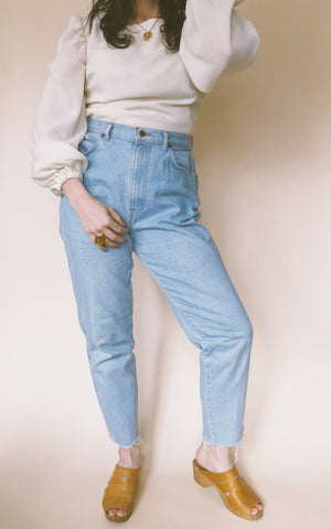 Light Wash High Waisted Denim 31""
