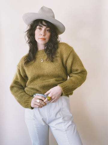 The Moss Mohair Sweater